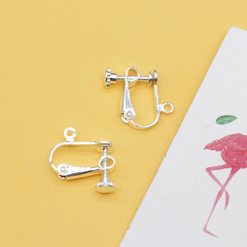 20pcs Ear Wire Screw Clip On Back Hinged Drop Earrings Hoop Jewelry Findings New