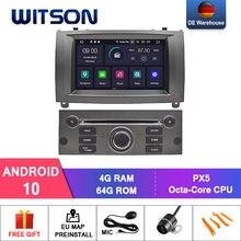 Alemanha Estoque! Witson para 4 + 64gb carro dvd gps para peugeot 407 android 10.0 ips tela de rádio 8 octa núcleo + dvr/wifi dsp + dab opcional