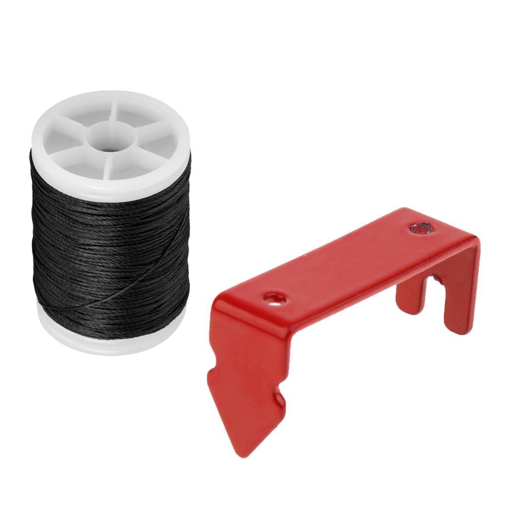 Bow String Serving Thread /& Red Peep Sight Installieren Sie Bow String