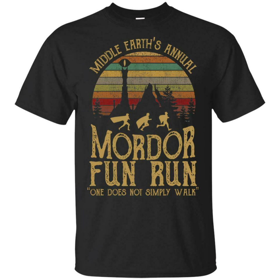 Middle Earth'S Annual Mordor Fun Run One Does Not Simply Shirt S-3Xl Made In Usa Full-Figured Tee Shirt