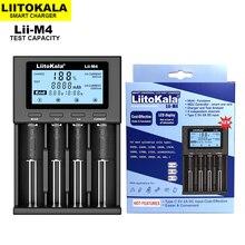 LiitoKala Lii M4 Có Thể Kiểm Tra Dung Lượng Pin Sạc màn Hình LCD Hiển Thị Tổng 5V Sạc Thông Minh Là 26650 18650 21700 18500 AA AAA