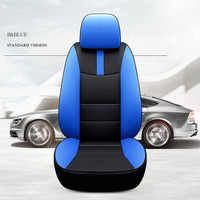 custom cowhide car seat cover 7 seats for Fiat Freemont Lincoln MKT Navigator Cadillac Escalade SRX all 3 row Car Seats Cushion