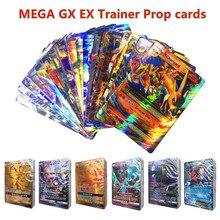 100 200 300 pçs brilhando jogar para pokemones gx mega ex cartões brinquedos treinador mewtwo negociação batalha carte jogo de brinquedo versão em inglês