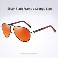 Silver Frame- Orange