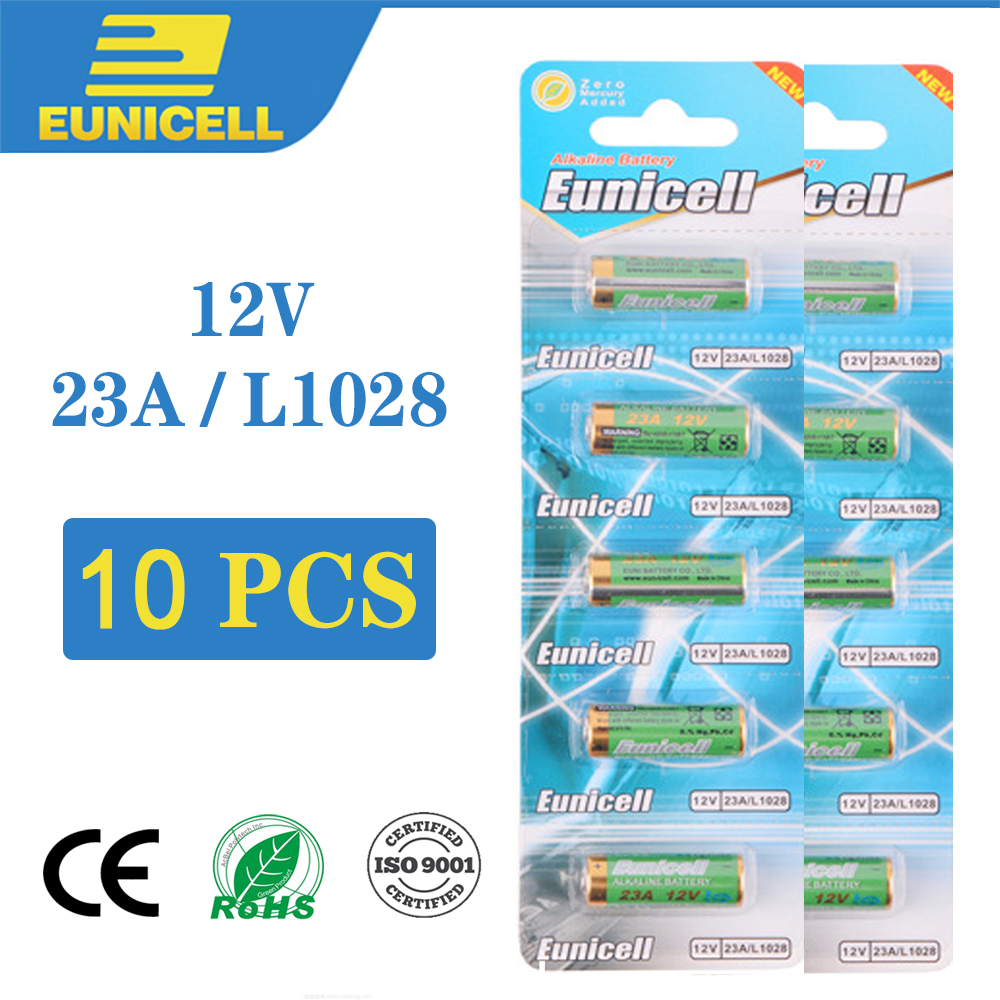 10PCS <font><b>12V</b></font> Small <font><b>Battery</b></font> 23A 21/23 <font><b>A23</b></font> E23A MN21 MS21 V23GA L1028 Alkaline Dry <font><b>Battery</b></font> for Alarm Doorbell Car Remote Control etc image