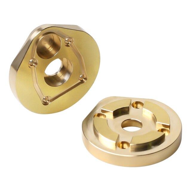 2 pièces en laiton lourd portail direction Knuckle ensemble AXI232006 pour 1/10 RC chenille axiale SCX10 III AXI03007 pièces de mise à niveau