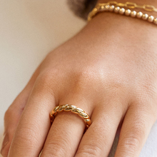 4pc/set Classic Wedding Ring for Women Gold Color Twist Rope Rings Female Chunky Thick Geometric Circle Minimalist Ring 2020 New