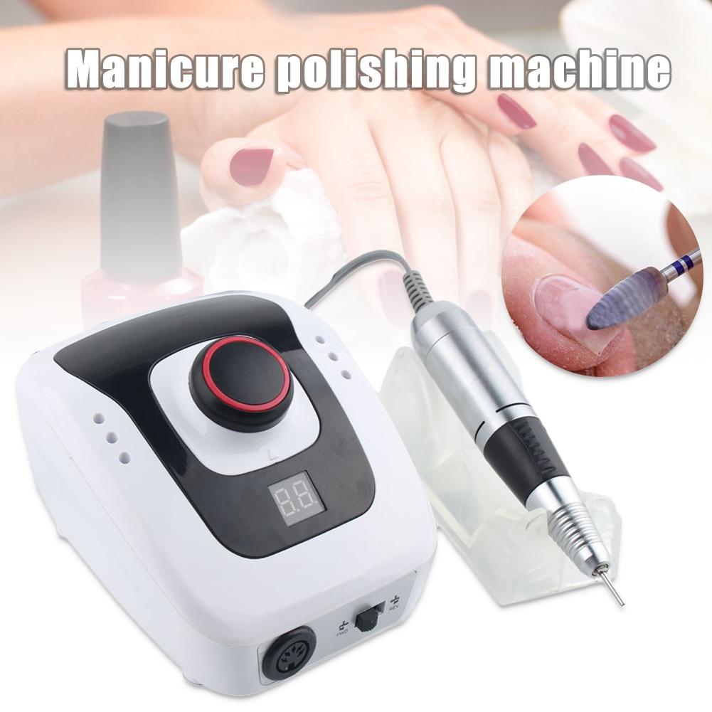 Elétrica unha polidor 35000 rpm manicure pedicure