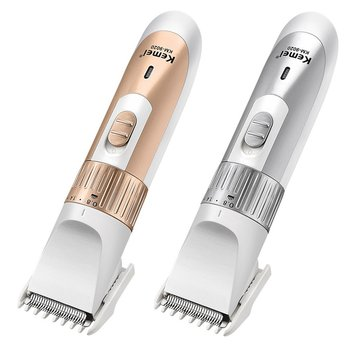 KM-9020 Electric hair clipper / Rechargeable Low noise Trim hair Haircut Use for any ages Gold Silver 1 set сверло km 38 d3