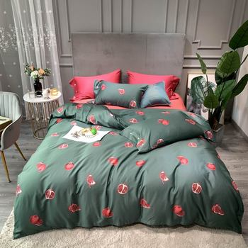 Juego de cama de algodón de estilo bohemio y egipcio de tipo Queen y tamaño King, juego de sábanas planas y edredones