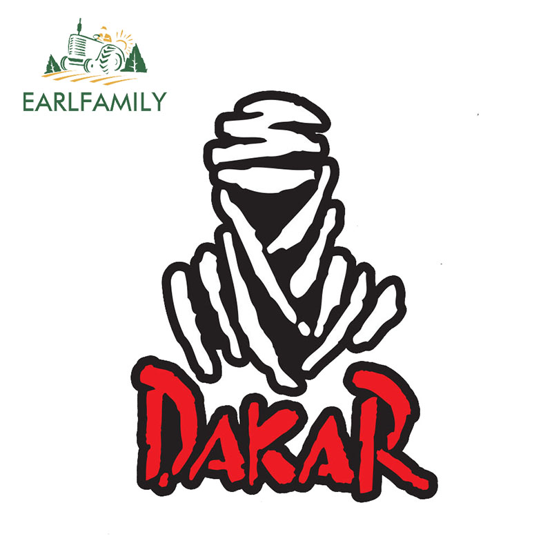 EARLFAMILY 13cm X 11cm FOR DAKAR Decal Rally Sticker Decal 4x4 Off Road Africa Twin Offroad JDM Waterproof Car Stickers