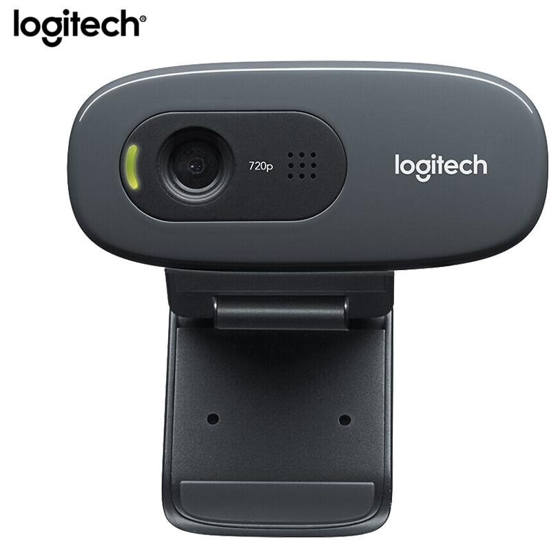 Logitech C270/C270i HD Webcam Gaming Mini USB Kamera Live Broadcast Web Camera Built-in Microphone Network Video Conference Cam