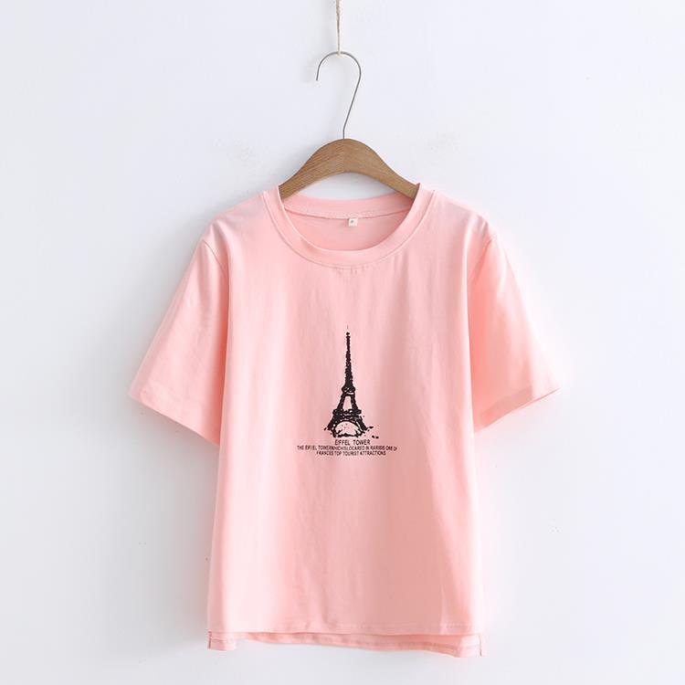Женская футболка, розовые хлопковые топы с коротким рукавом, летняя мода 2020