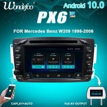 CAPLAY PX6 2 DIN Android 10 магнитола автомобильное радио для Mercedes Benz W209 W203 ML W163 Viano W639 Vito Vaneo Авто Аудио навигация 2DIN DVD