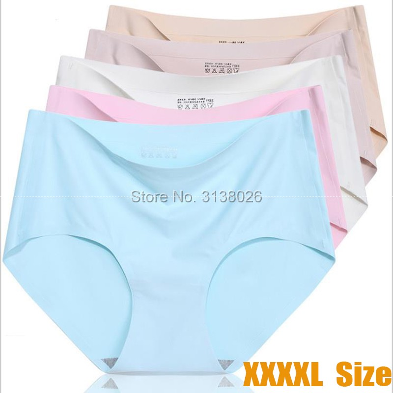 XXXXL Size Hot Sale Ice Silk Style Underwear Women Sexy Ladies Girls Seamless Panties Briefs Intimates Factory Shipping OEM