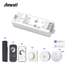 LED Dimmer 12V 24V PWM 2.4G Wireless RF Touch Remote Controller 5V 36V Smart Wifi Switch for Single Color Strip