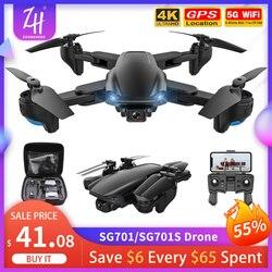 Drone SG701S GPS 4K Camera Drones Professional 5G WIFI FPV Optical Flow RC Quadcopter Foldable Mini Dron 500M VS SG906 F3 Gift