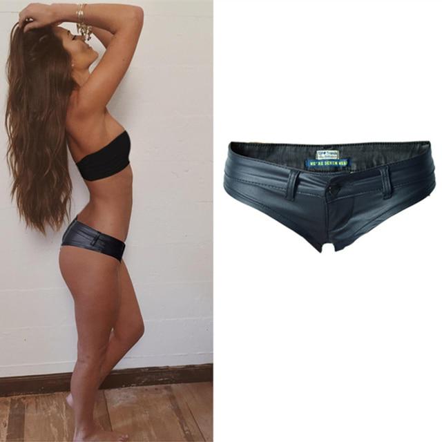 Sexy Shorts Womens Low Waist Short Shorts Pu Mini Shorts 2021 2