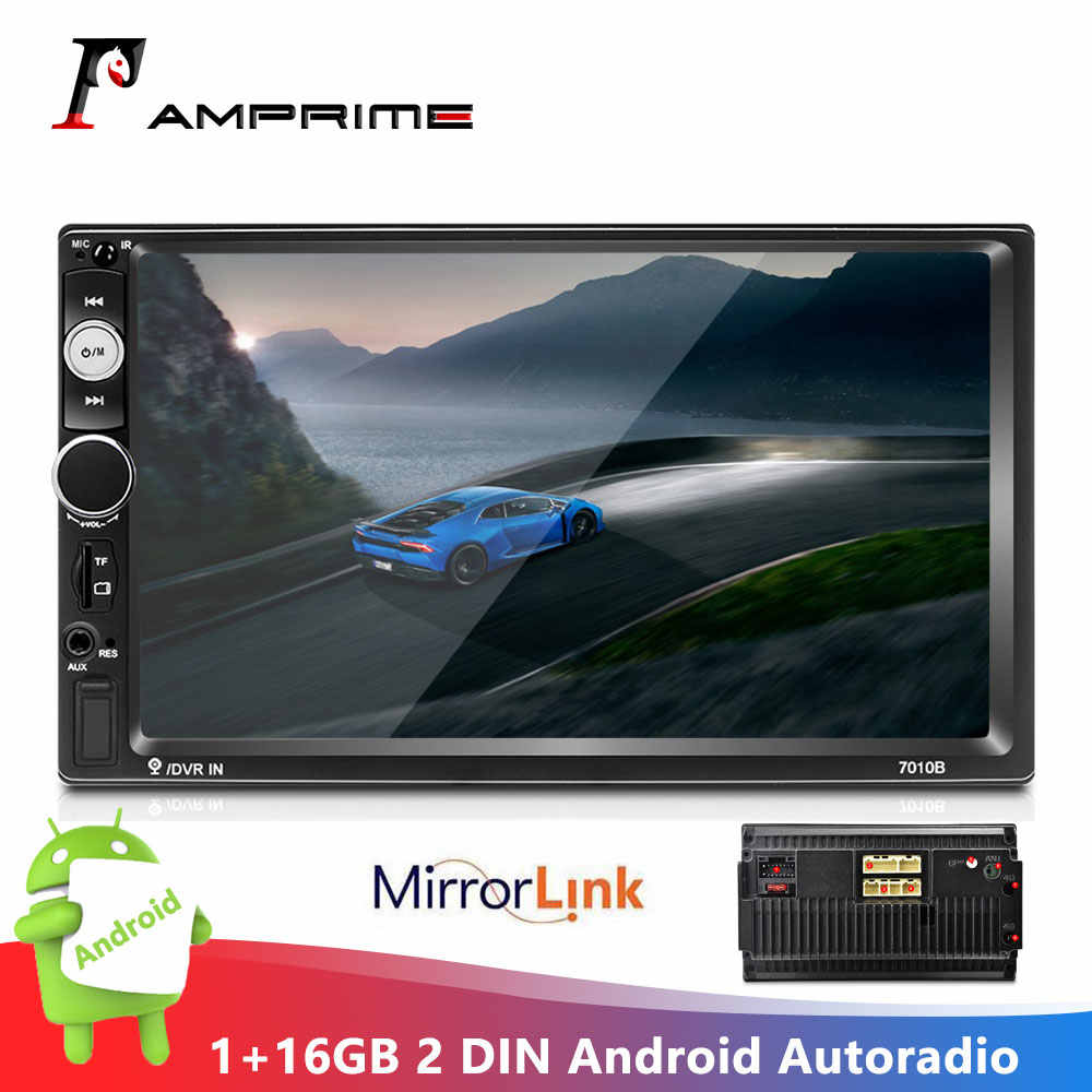 "Amprime 2 Din Android Autoradio Autoradio Gps Wifi Mirrorlink Bluetooth MP5 Fm 7 ""Car Multimedia Speler Radio Cassette speler"