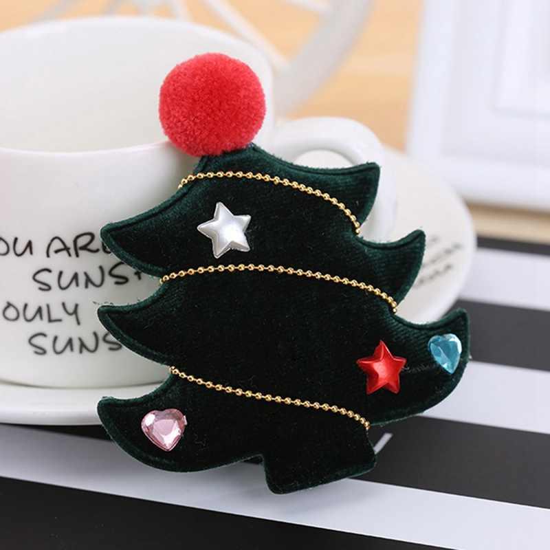 Crianças Moda Bonito Headwear Barrettes Hairpin Clipes Bebê Meninas Cabelo Crianças Dos Desenhos Animados Da Árvore de Natal