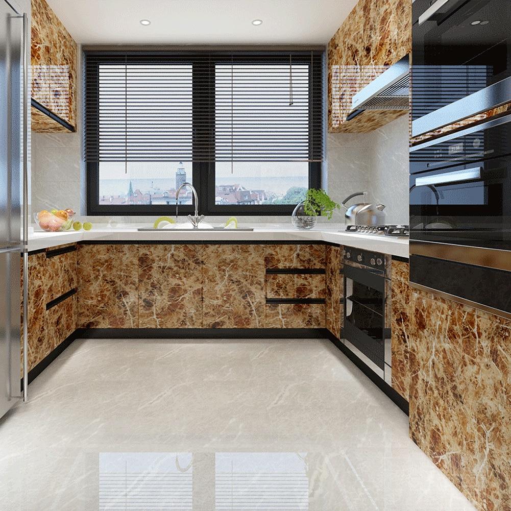 Marble Vinyl Film Self Adhesive Wallpaper For Bathroom Kitchen Cupboard Countertops Contact Paper Waterproof  Office Desk Decor