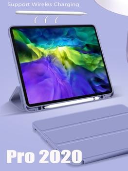 Pokrowiec GOOJODOQ na iPad Pro 11 12.9 Pro 11 2020 pokrowiec 2018 wieloskładnikowy pokrowiec ze skóry PU Smart pokrowiec na iPad Pro 11 2020 Funda Capa