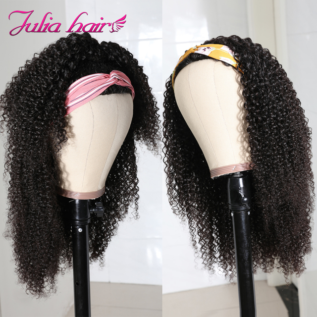 Brazylijski włosy perwersyjne kręcone półperuka maszyna wykonane oddychające peruki z ludzkich włosów nie szyć w Ali Julia dziewiczy włosy Glueless peruka z lokami|Pełne peruki maszynowe|   -