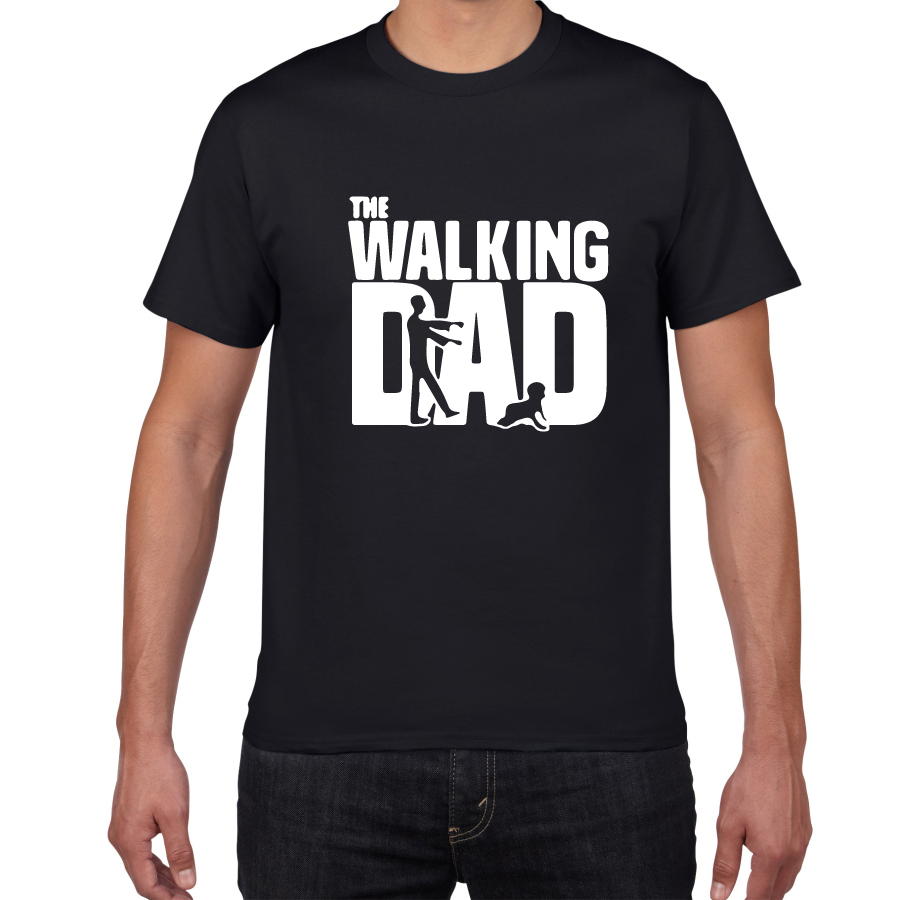 The Walking Dad Novelty Graphic Tshirt Men Breathable Cotton Hipster T Shirt Men Funny Streetwear Loose Hip Hop Tees Shirt Homme