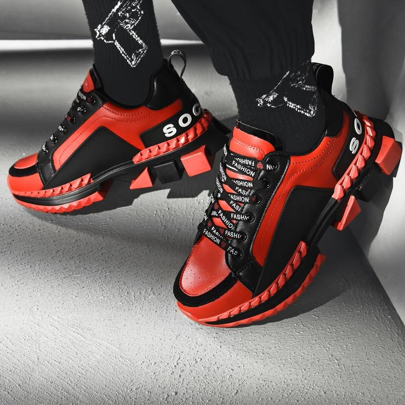 MandiShang Ins Torre Shoes Men 36 Korean Joker Sneakers Men 37 High Shoes Men Tide Shoes 35 Casual Men's Shoes