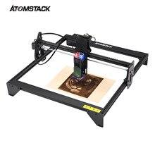 ATOMSTACK-grabador láser A5, 20W, CNC, 410x400mm, área de tallado, escritorio, máquina cortadora de grabado artesanal, Láser de enfoque fijo actualizado
