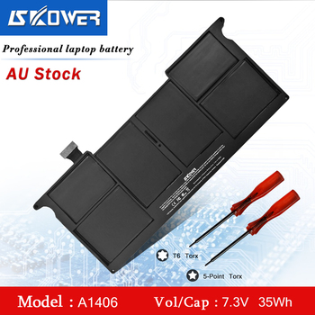 SKOWER A1406 Laptop Battery For Apple MacBook Air 11 inch A1370 (Mid 2011) A1465 (2012-2014) Series Replacement A1495 7.4V/35Wh