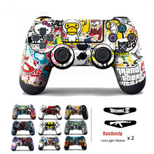 Bomb Graffiti Vinyl Cover Sticker For PS4 Wireless Controller Gamepad Protective Skin Decal For Playstation 4