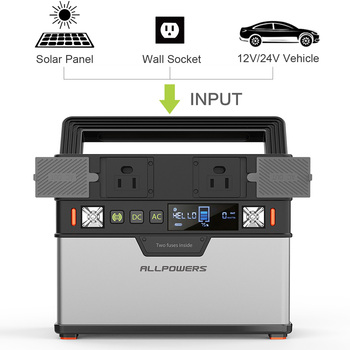 ALLPOWERS Portable Power Station 372Wh Lithium Battery Solar Generator with Solar Panel 100W Backup Supply 110V 220V AC Outlet. 5