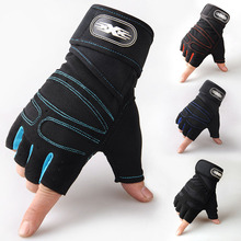 цена на 1Pair Half Finger Cycling Gloves Anti Shock Sports Outdoor Anti-Slip Bicycle Riding Gloves