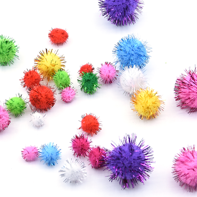 Pompom 10/15/20/25/30mm Mix Color Christmas Pom Pom Fur Craft DIY Soft Plush Ball Pompoms Hair Root Diy Children Toys 200pcs