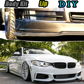 Car Bumper Lip Front Spoiler Skirt Deflector For BMW 4 Series M4 F32 F33 F36 G22/23/ 24 Car Modified Body Kit VIP Hella Flush image