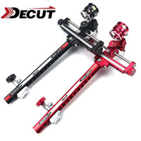 DECUT Archery Compound Bow Sight Scope Sight 4x/6x/8x Power Lens Bow Sight Stand w Aluminum Shooting Hunting Accessory