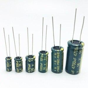 Image 2 - 10PCS גבוהה תדר אלקטרוליטי קבלים 20% 6.3V 1000UF 10V 1500UF 16V 2200UF 25V 3300UF 35V 50V 400V 4700UF 680UF 35V 1UF