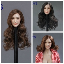 Special price in stock GACTOYS 1/6 Asian beauty head carving Yang Mi A, B, C three GC014 12 inch woman dolls available stock price puzzle