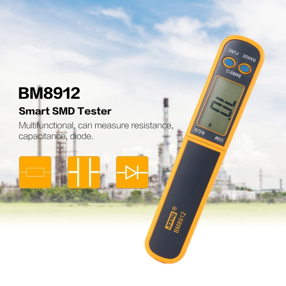 Digital Multimeter SMD Tester Resistance Capacitance Meters Diode Test Professional SMT Component Tester BM8912