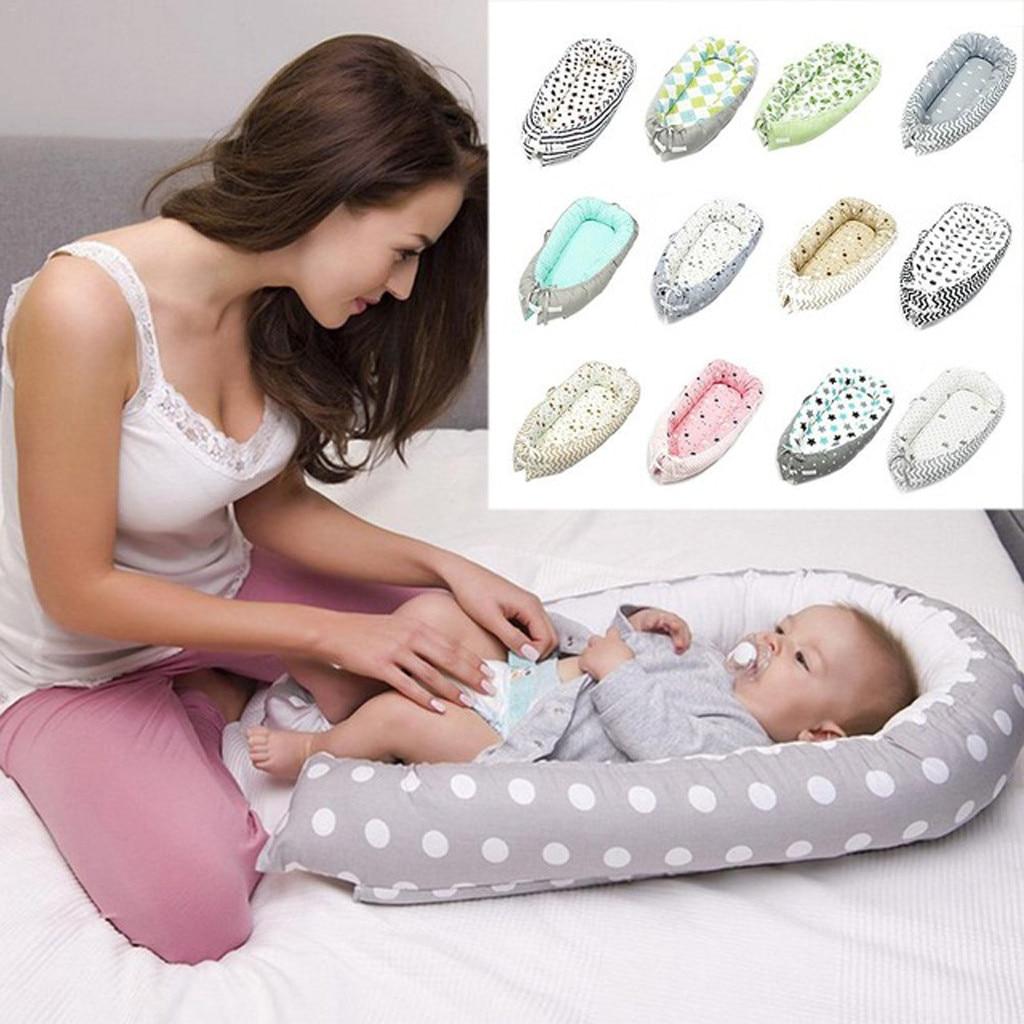 Детское гнездо детская кроватка портативная моющаяся кровать для путешествий для детей младенцев детская Съемная хлопковая Колыбель