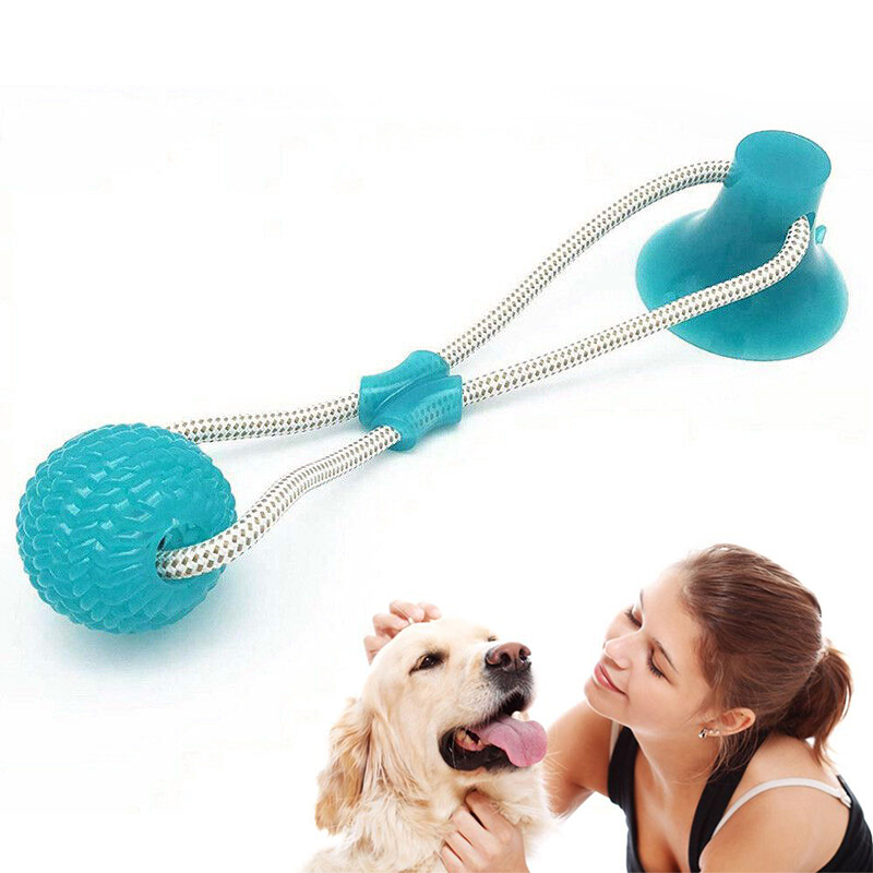 Pet Toys With Suction Cup Rubber Dog Toy Dog Toothbrush Dog Ball Puppy Toys Dog Toys For Small Large Dogs Petshop Popular Toys