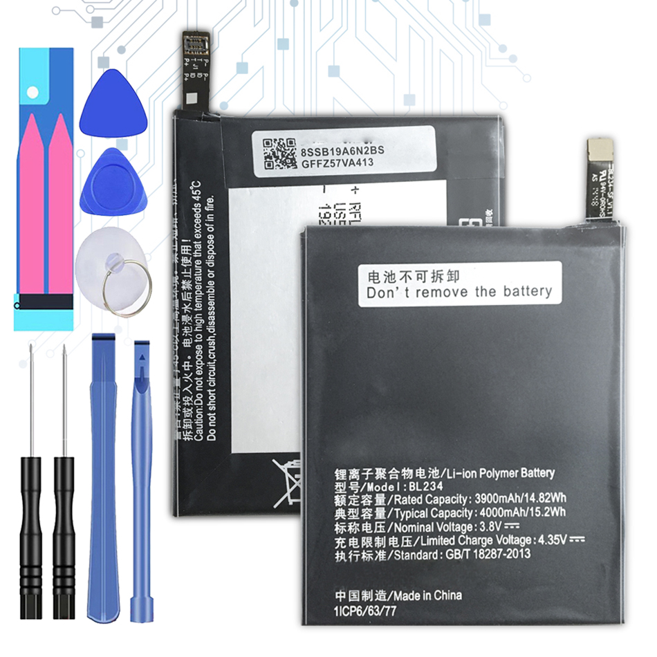 4000mAh BL234 Replacement <font><b>Battery</b></font> for <font><b>Lenovo</b></font> <font><b>A5000</b></font> Vibe P1M P1MA40 P70 P70t P70-T P70A P70-A +Tracking Number image