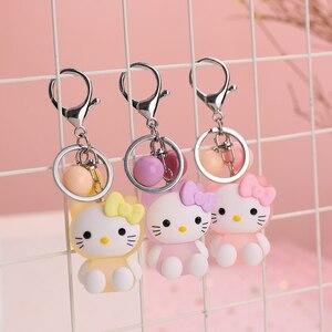 Светящийся мультяшный брелок Hello Kitty Lady Girl украшение подвеска на сумку брелок для ключей Студенческая сумка брелок для автомобиля милый под...