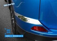 Lapetus Auto Styling Chrome Hinten Hinter Nebel Seite Stoßstange Schutz Abdeckung Trim 2 Pcs Fit Für Toyota RAV4 RAV 4 2016 2017 2018 ABS
