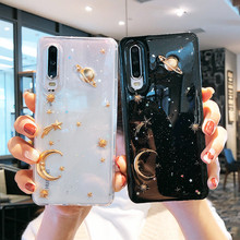 Electroplate Epoxy Planet Star Phone Case For Huawei Y9 2019 P10 P20 Mate 30 20