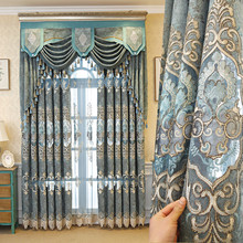 European American Chenille embroidered Luxury curtains for Living Room window curtains for Bedroom Window curtain kitchen/Hotel