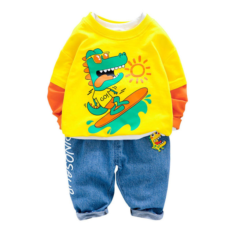 Autumn Boys Clothing Tracksuit Spring Kids Sportswear Clothes Sets Outfits Children Clothing Baby Long Sleeve T-shirt Jeans Suit