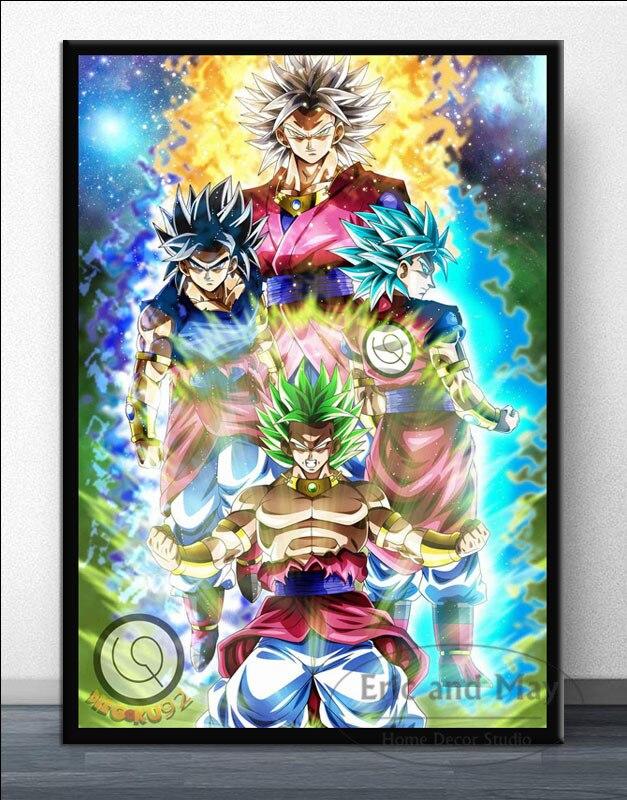 N-401 Dargon Ball Super Ultra Instinct Goku Japan Anime2 Fabric POSTER 30 24x36