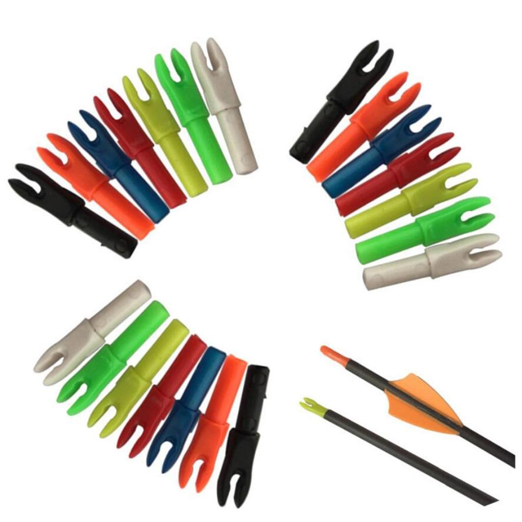 12 Pieces Plastic Archery Precision Nocks For ID 4.2mm Arrow Shaft